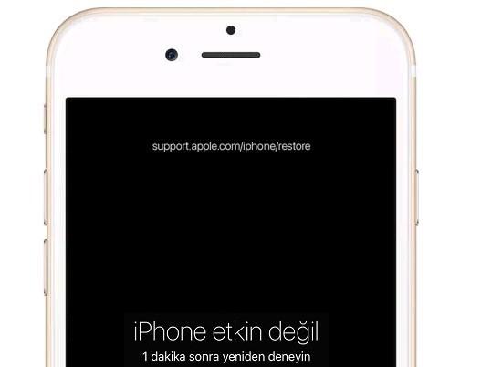 iphone etkin degil hatsi iPhone Etkin Değil Hatası Çözüm