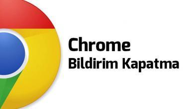 chrome-bildirim-kapatma